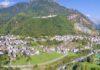 Panorama von Chiesa in Valmalenco