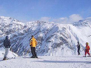 Skifahrer in Sondrio