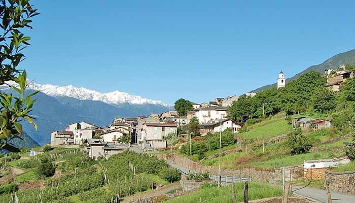 Panorama von Tirano