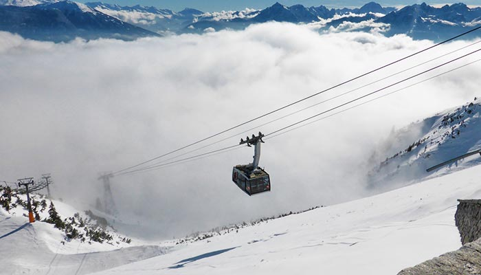 Seilbahn im Valtellina