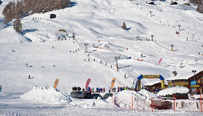 Skigebiet im Valtellina