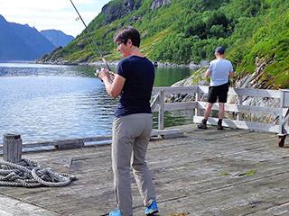 Fischen im Valtellina
