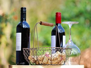 Rotwein im Valtellina